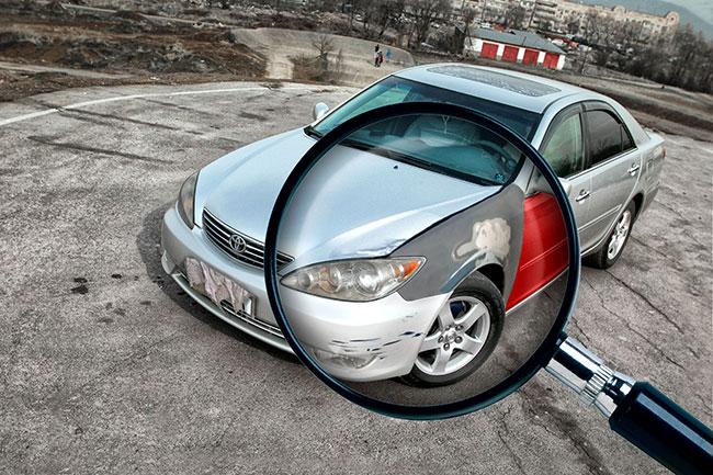 По каким признакам можно определить, что автомобиль битый?